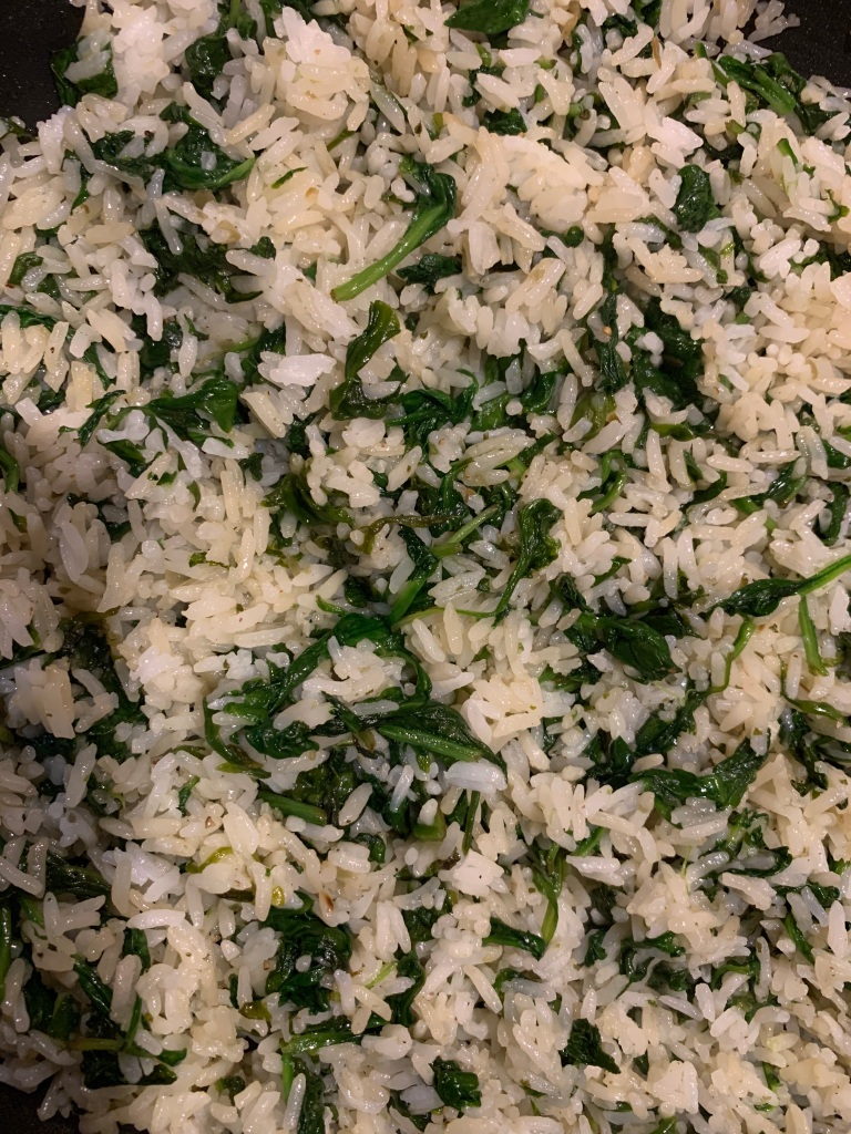 Jasmine Rice with Baby Spinach